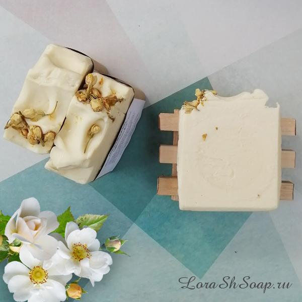 Мыло натуральное с нуля ручной работы Жасминовое купить в интернет магазине
